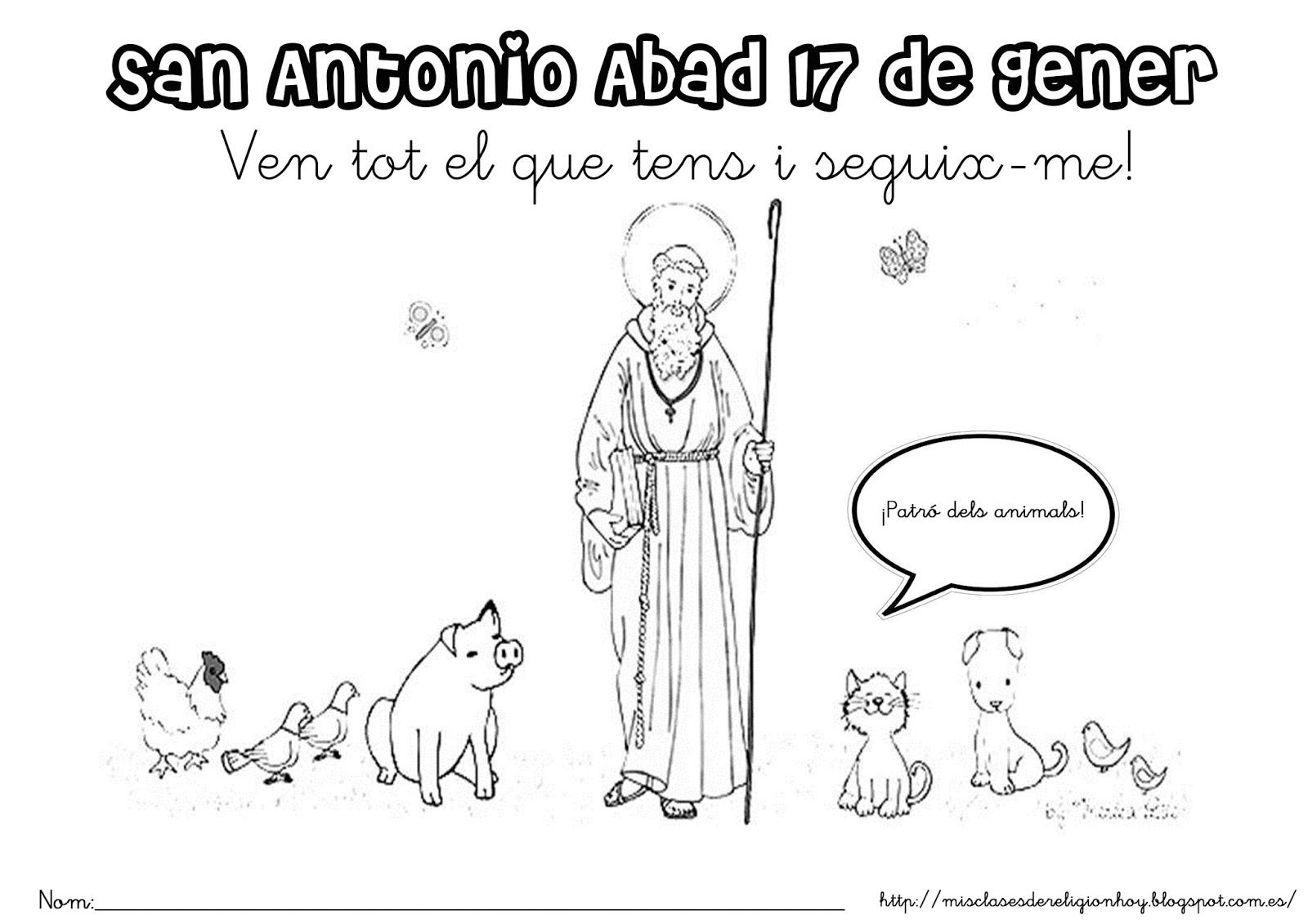 San Antonio En Dibujos Animados: Dibujos De San Antonio Para Colorear