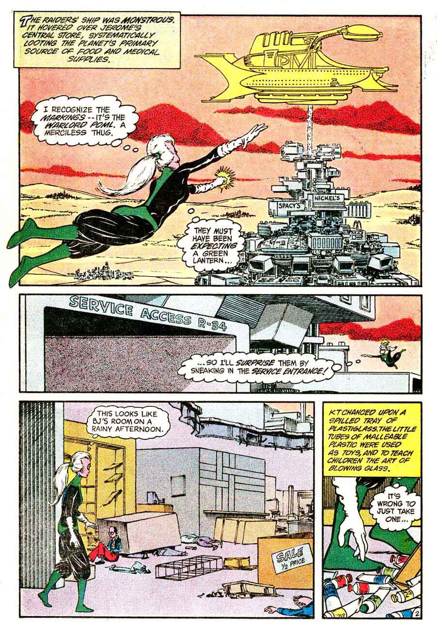 Green Lantern v2 #187 dc comic book page art by Marshall Rogers