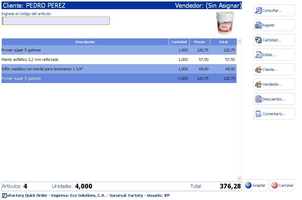Software de Punto de Ventas Web para Textiles/Telas Cloud Computing Venezuela