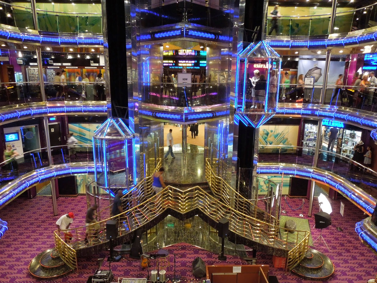 Carnival Sensation atrium at night