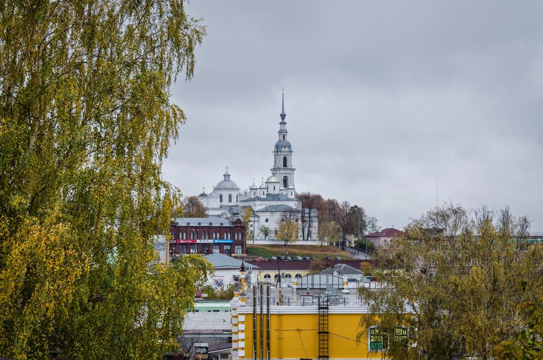Вид на Успенский собор. Кинешма