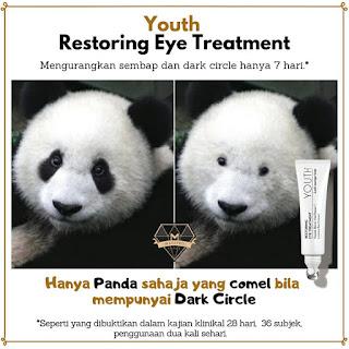 Youth eye treatment; panda eyes; krim mata; shaklee skin care; youth shaklee;