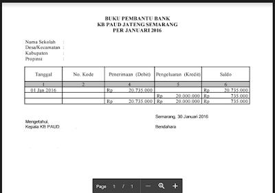 Contoh Buku Pembantu Bank Dana BOP