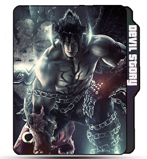Preview of Devil Jin, Game, Tekken, Black devil Jin, Devil icons.