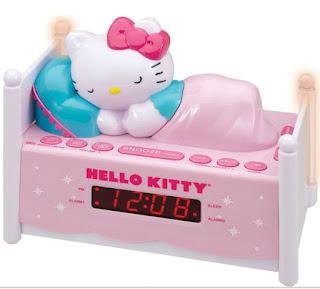 Gambar Jamm Hello Kitty Sedang Tidur Lucu