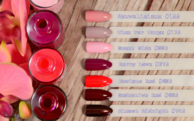 Swatches der Manhattan Super Gel Nagellacke