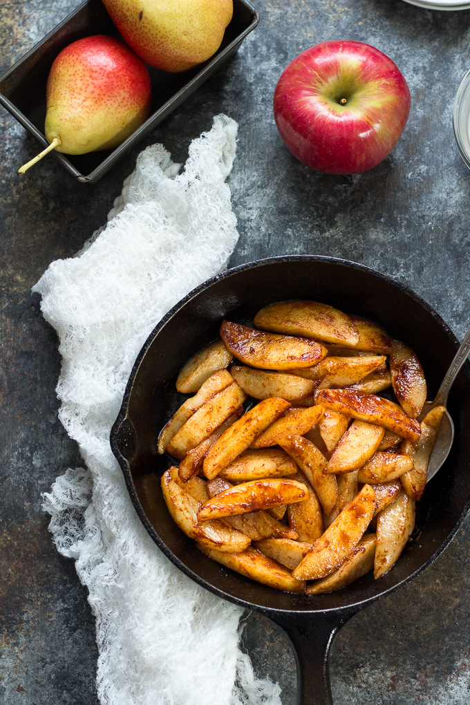 Sautéed Apples & Pears with Coconut Butter #vegan #vegetarian #coconut #easy #recipes