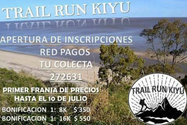 16k y 8k Trail run Kiyú (San José, sáb 23/sep/2017)