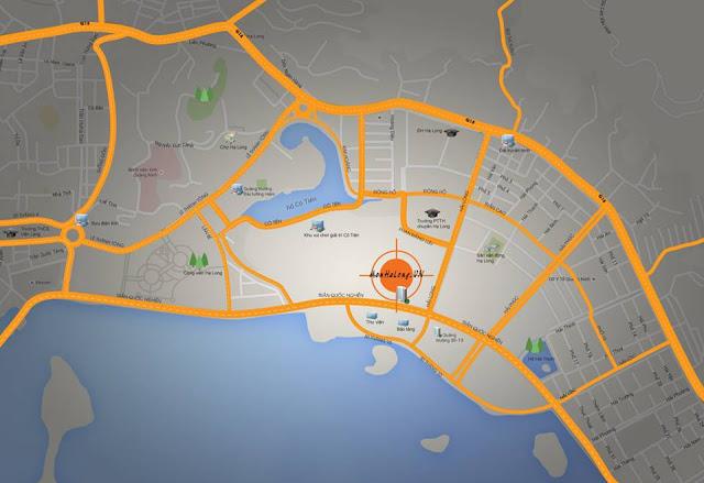 Vị trí xây dựng dự án Mon Bay Hạ Long