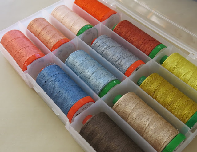 Aurifil threads ordered from Busy Needle Quilting