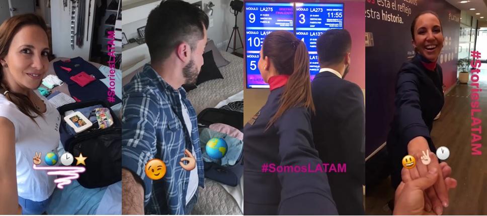 LATAM utiliza o Instagram Stories em nova etapa de sua campanha institucional