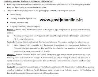 Rajasthan Pre Teachers Education Test PTET Admit Card 2019-Download PTET Hall Ticket Now, Exam Pattern, Syllabus