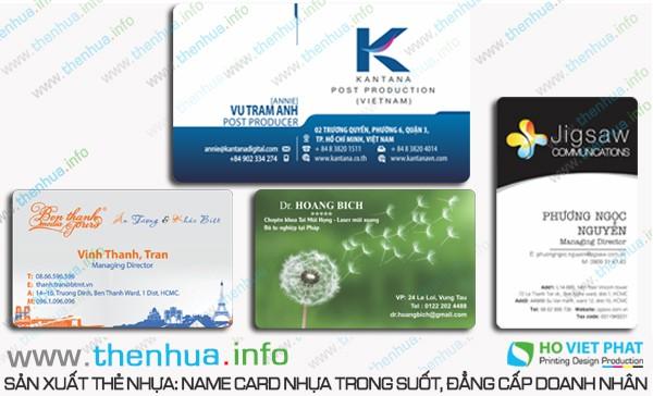  Sản xuất vật tư in thẻ nhựa trong suốt  giá rẻ, uy tín hàng đầu