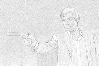 Timothy Dalton James Bond coloring pages jamesbondreview.filminspector.com