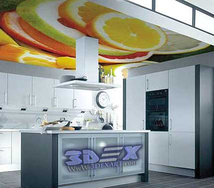 3d Ceiling For Kitchen, 3d Ceiling Mural For Kitchen False Ceiling
