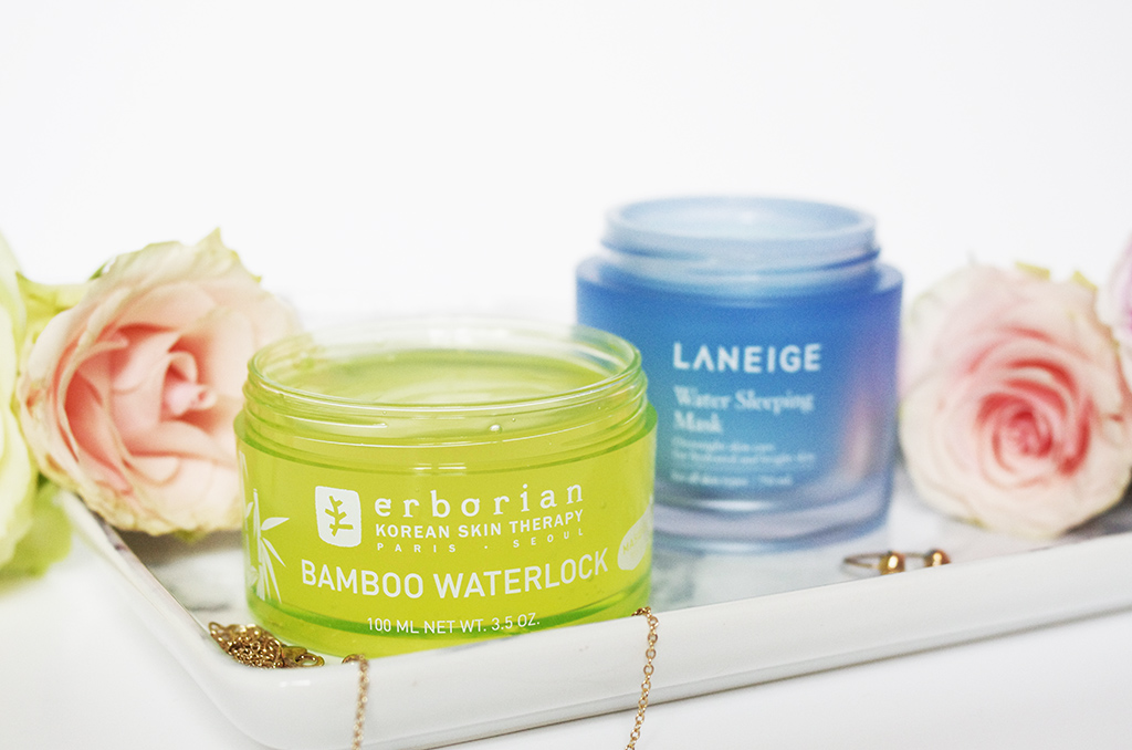 Elizabeth l Korean Beauty face water masks l Erborian Bamboo Waterlock La Neige Water Sleeping Masks l THEDEETSONE l http://thedeetsone.blogspot.fr
