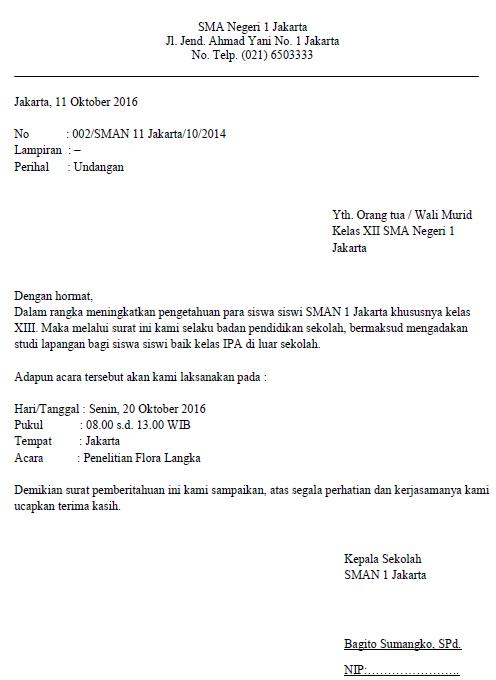 Contoh Surat Dinas Sekolah Resmi