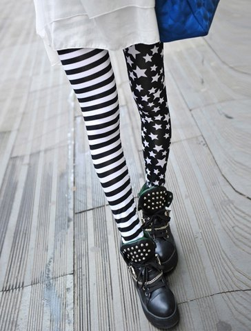 Stripe star leggings