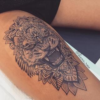 gambar tato batik harimau keren