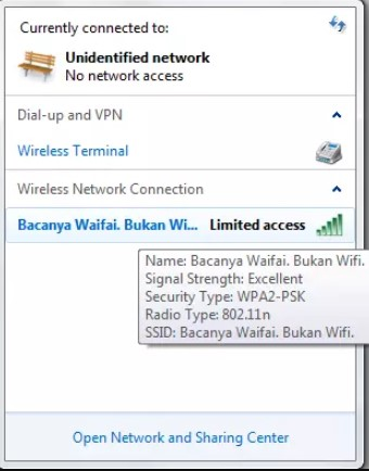 5 Cara Mengatasi Wifi Limited Access di Laptop