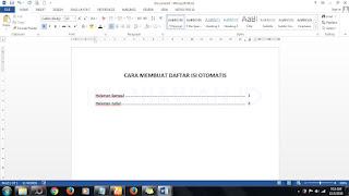 Cara Mudah Membuat Daftar Isi Otomatis di Word