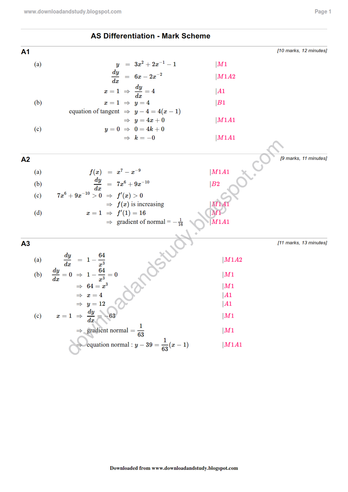 Download Amp Study Solution As Maths Differentiation