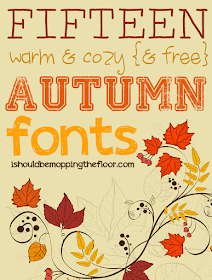 15 Fabulously Fall Free Fonts | Easy-to-use free fonts that are perfect for autumn.