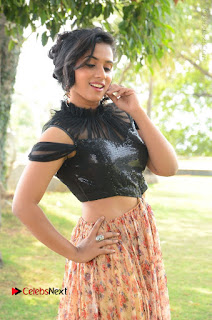 Actress Chetana Uttej Stills in Floral Long Skirt at Pichiga Nachav Movie Press Meet  0027.JPG