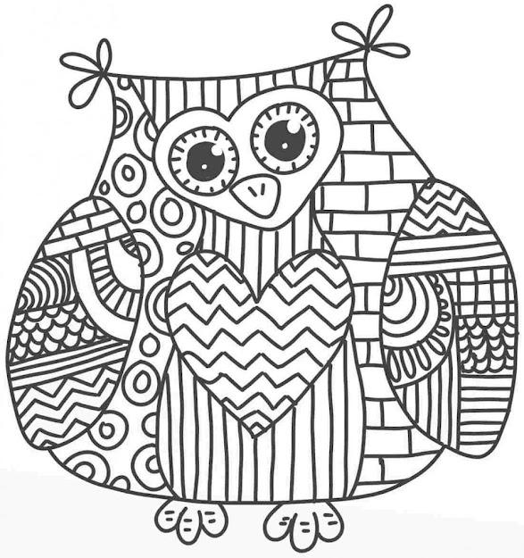 Owl Mandala Coloring Pages