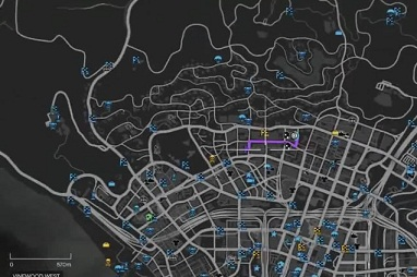 GTA 5, Parachute View, Vinewood West, Secret Places, Hidden Apartment Location, Map