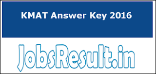 KMAT Answer Key 2016