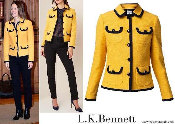 Princess Sofia wore L.K.BENNETT Anita Yellow Tweed Jacket