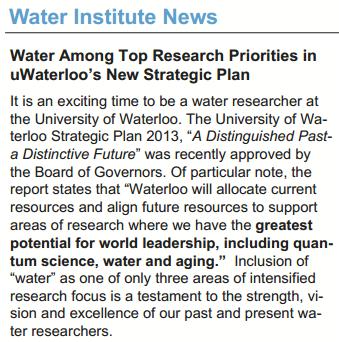 Water Institute Newsletter