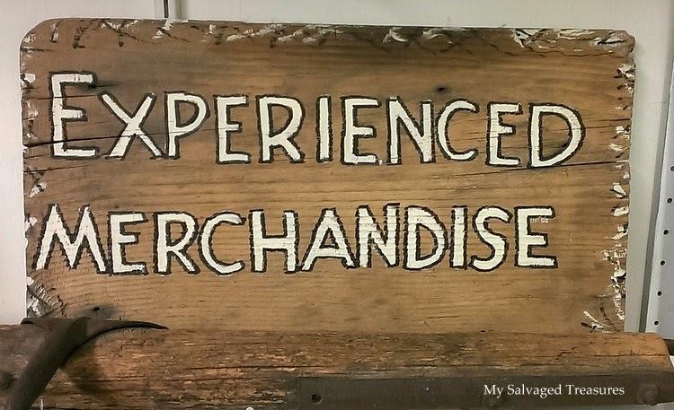 homemade vintage sign