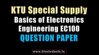 KTU Basics of Electronics Engineering EC100