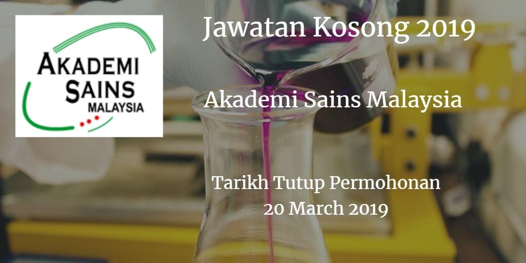 Jawatan Kosong ASM 20 March 2019