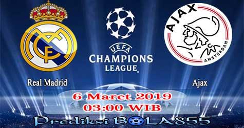 Prediksi Bola855 Real Madrid vs Ajax 6 Maret 2019