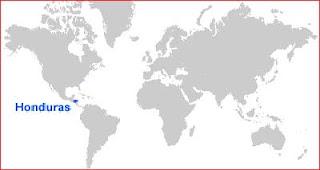 Gambar Peta letak Honduras