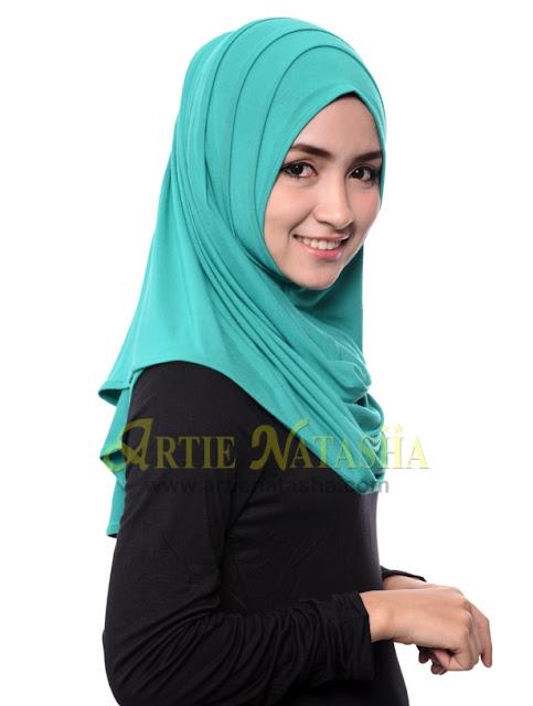 natasha 2 loops muka cotton tudung terbaru fesyen hari raya 2015
