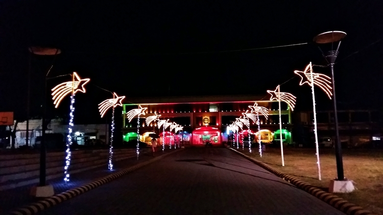 christmas colors lights at polomolok municipal hall - Municipal Christmas Decorations