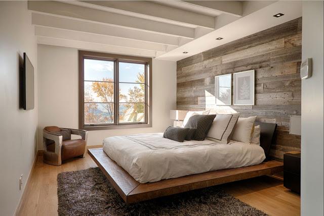 Moderne-rustikale-schlafzimmer-Design-mit-Holz-wandverkleidung-und-schwebend-Holzbett-Moderne-rustikale-schlafzimmer-Design-mit-Holz-wandverkleidung-und-schwebend-Holzbett-1024x684