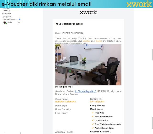 e-Voucher Pesanan Ruangan di XWORK - Blog Mas Hendra