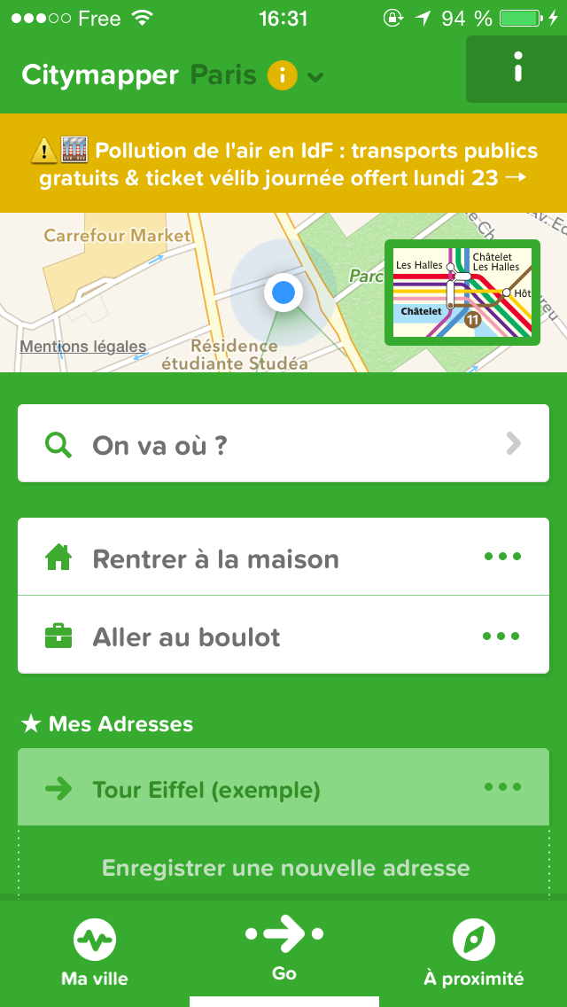 applciation esteban citymapper