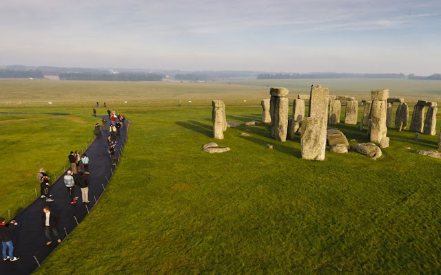 The distance from Stonehenge with normal access tickets
