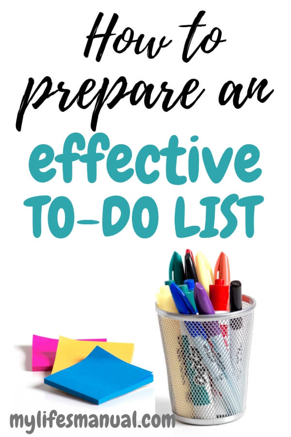 How to prepare an effective to-do list