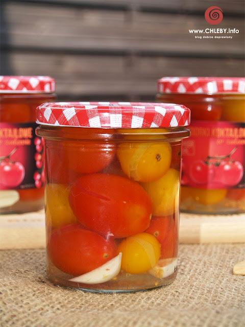 Pomidorki koktajlowe w zalewie do słoików na zimę