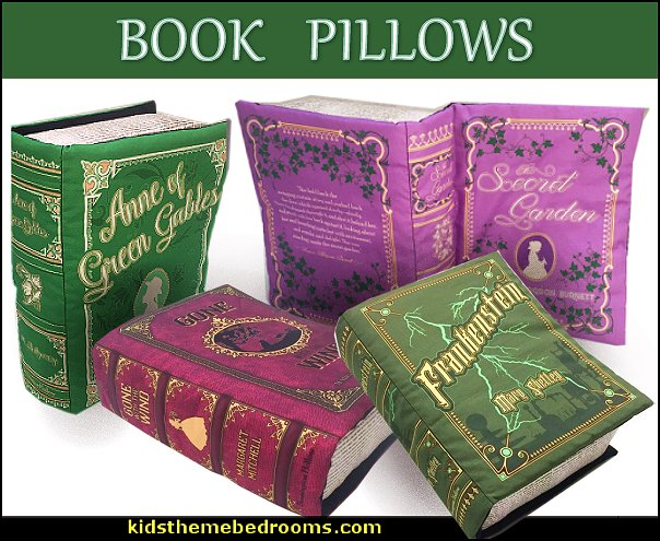 pillow books room decor  book themed decor - Bibliophiles decor - Book themed furnishings - home decor for book lovers - book themed bedroom - Stacked Books decor - Stacked Books furniture - bookworm decor - book boxes - library furniture - formal study furniture - antique book decor - book pilloiws -unique furniture - novelty furniture - Logophile decor - scrabble themed bedroom  - scrabble wall decorations - Crossword bedroom decor - movie decor  films book decor