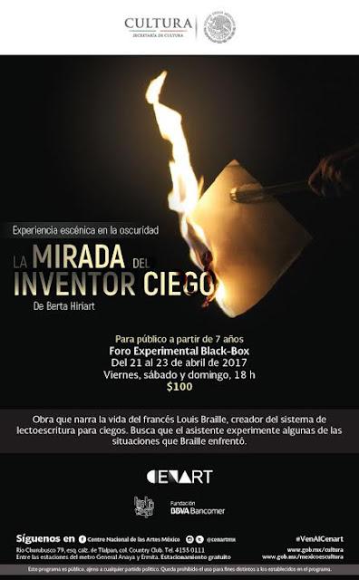 """Teatro Ciego México presenta """"La Mirada del Inventor Ciego"""" en el CENART"""