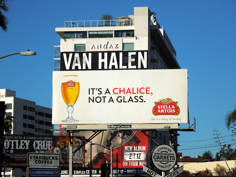 Stella Artois chalice not a glass billboard
