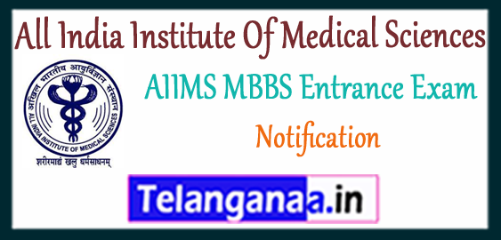 AIIMS All India Institute Of Medical Sciences MBBS Registration Entrance Exam Notification 2018